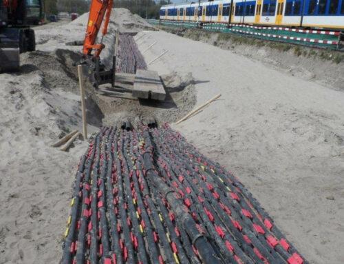 19.000 Meter Halbschalen-Kabelschutzrohre für ein Bahnprojekt außerhalb von Amsterdam