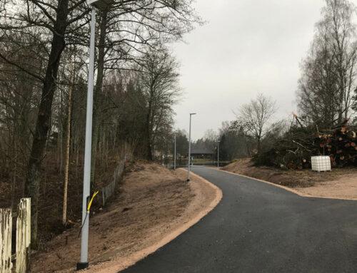 Mastfundament für Straßenbeleuchtungsmasten, Hovmantorp, Schweden