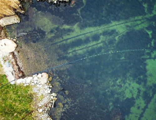 Unterwasserkabelinstallation an der Südküste Schwedens